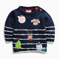 2016 Winter Autumn brand children's clothing baby boy long-sleeved sweater knitted cotton sweater cartoon snowman
