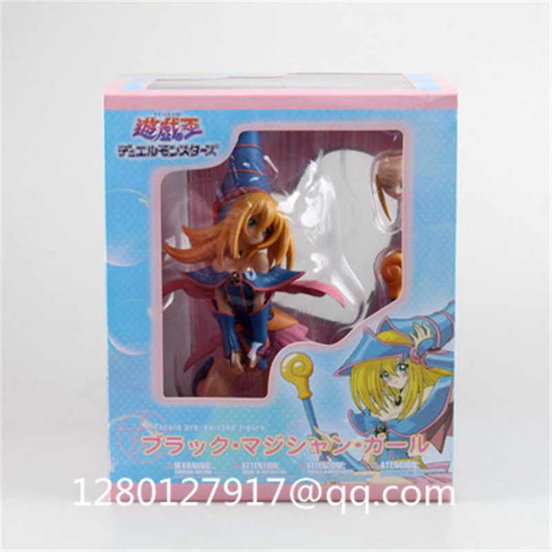 Mana Yu-Oh-Dark Magician Gir PVC Action Figure Collectible Modelo Toy Boneca Dos Desenhos Animados do Kawaii Menina 18 CM NA CAIXA P223