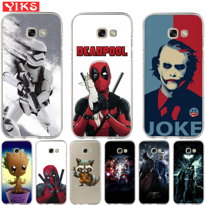Raccoon Joker Deadpool <font><b>Case</b></font> For Coque <font><b>Samsung</b></font> <font><b>Galaxy</b></font> A3 A5 A7 <font><b>A8</b></font> 2015 2016 2017 2018 Cover <font><b>Case</b></font> Soft <font><b>Phone</b></font> <font><b>Case</b></font> shell Skin Etui image