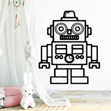 Diy robot Cartoon Wall Decals Pvc Mural Art Poster For Babys Rooms Background Decal