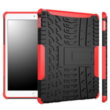 For Apple iPad Air 2 Case Cowl Armor Shockproof Heavy Obligation Silicon PC Stand For iPad air 2 iPad6 9.7″ Pill Protecting Covers