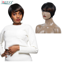Brazilian Colored Short Bob Wig With Bangs Human Hair Straight Piano Short Blonde Wig Human Hair For Black Women 6 Inches Remy