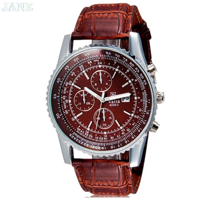 VaLia 8208 mužské šaty hodinky pánské analogové hodinky s kalendář hodinky muži módy