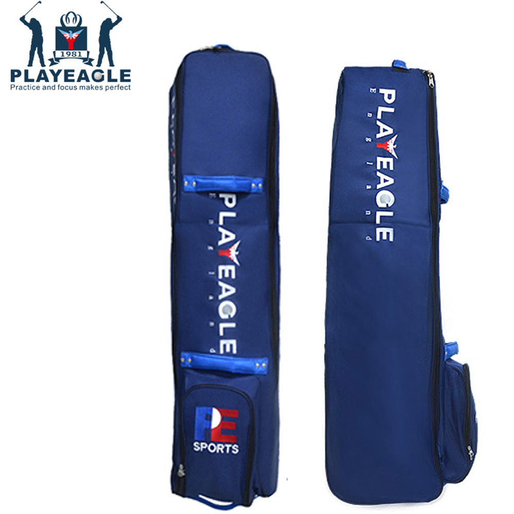 PLAYEAGLE Golf Aviation Bag with Wheels Strong Nylon Collapsible Design Plenty of Storage For Golf Bag Golf Travel Bag