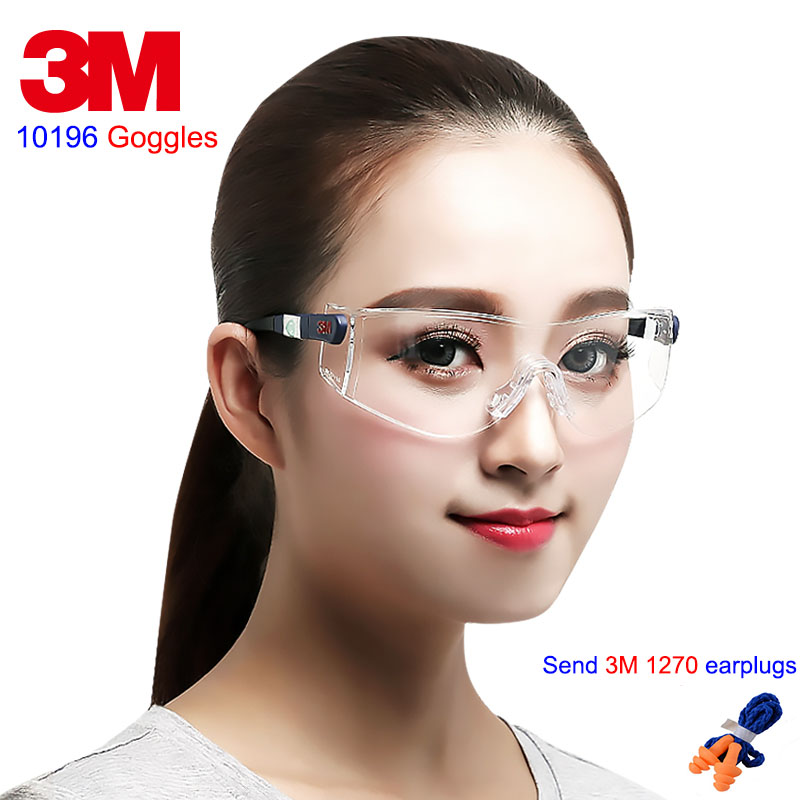 3M 10196 protection glasses light Comfortable type airsoft glasses Anti-fog Anti-scratch Anti-UV goggles