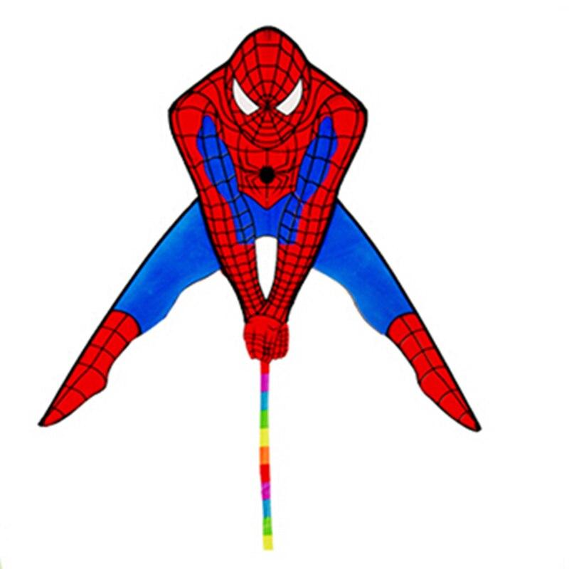 Livraison gratuite de haute qualité spiderman cerf-volant usine en gros avec ligne en plein air volant jouets cerfs-volants à vendre volant dragon windchaussette - 2