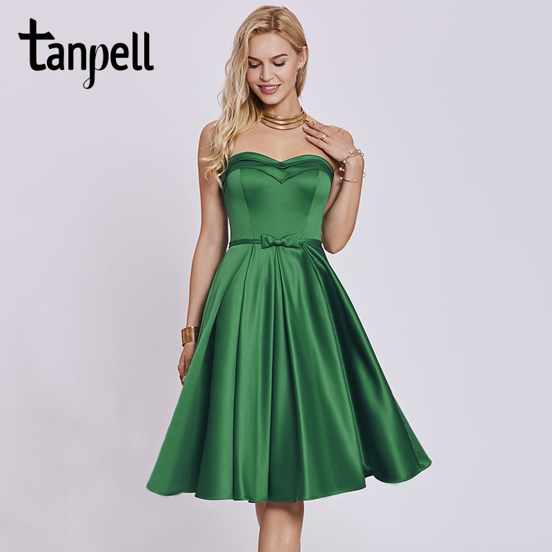 Tanpell sweetheart   cocktail     dress   hunter sleeveless tea length a line gown cheap women homecoming formal short   cocktail     dresses