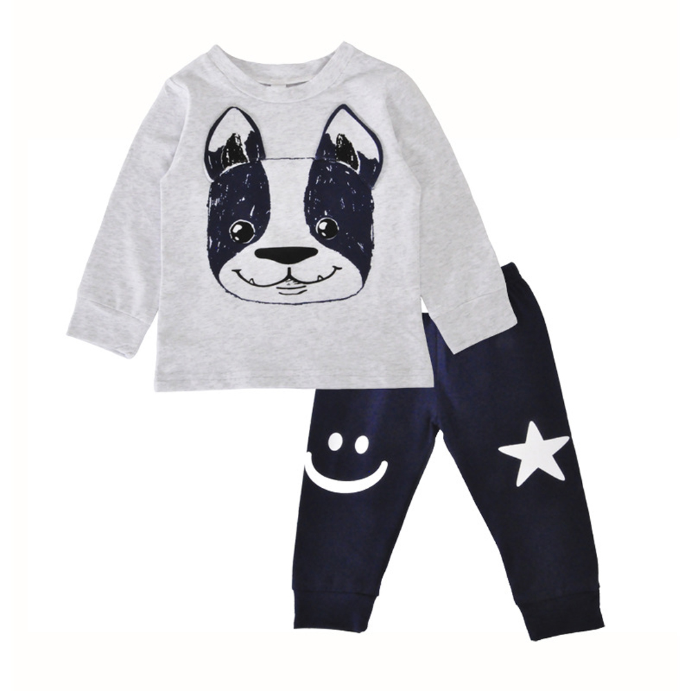Baby Girls Boys Clothing Sets of Dog Star Printed Casual T-shirt+Pants Clothes Suit 2PCS Children Cute Cartoon Outfit