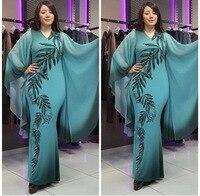V Lead Leaf Printing muslim indian african Dress abaya robe femme turkey indonesia bangladesh dresses kaftan dubai uae moroccan