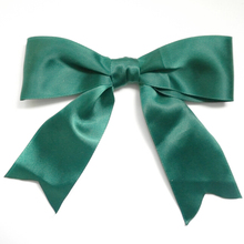 Free Shipping 260pcs/lot Big Satin Pre-Tied Polyester Favor Bows Huge Pre made Bow