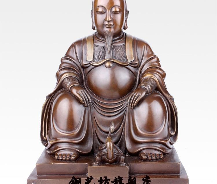 """10"""" China Taoism God Xuan Wu Da Di Great Zhenwu Bronze Statue"""