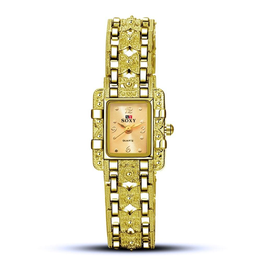все цены на SOXY Luxury Bracelet Watch Women Watches Gold Watches Ladies Watch Clock Women saat bayan kol saati relogio feminino reloj mujer