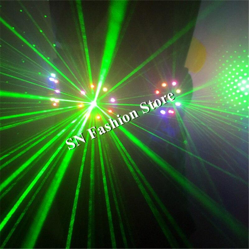 T18 luz Colorida colete salão bar discoteca levou trajes trajes de dança do laser led iluminado RGB cinto roupas dj veste passarela terno