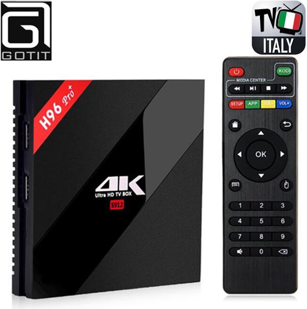 Super Italia H96Pro + 3G32G Android 6.0 Smart TV de la Caja IPTV + 1400 + Albanés turquía IPTV canales XXX Adultos del club Caliente Smart Set Top caja