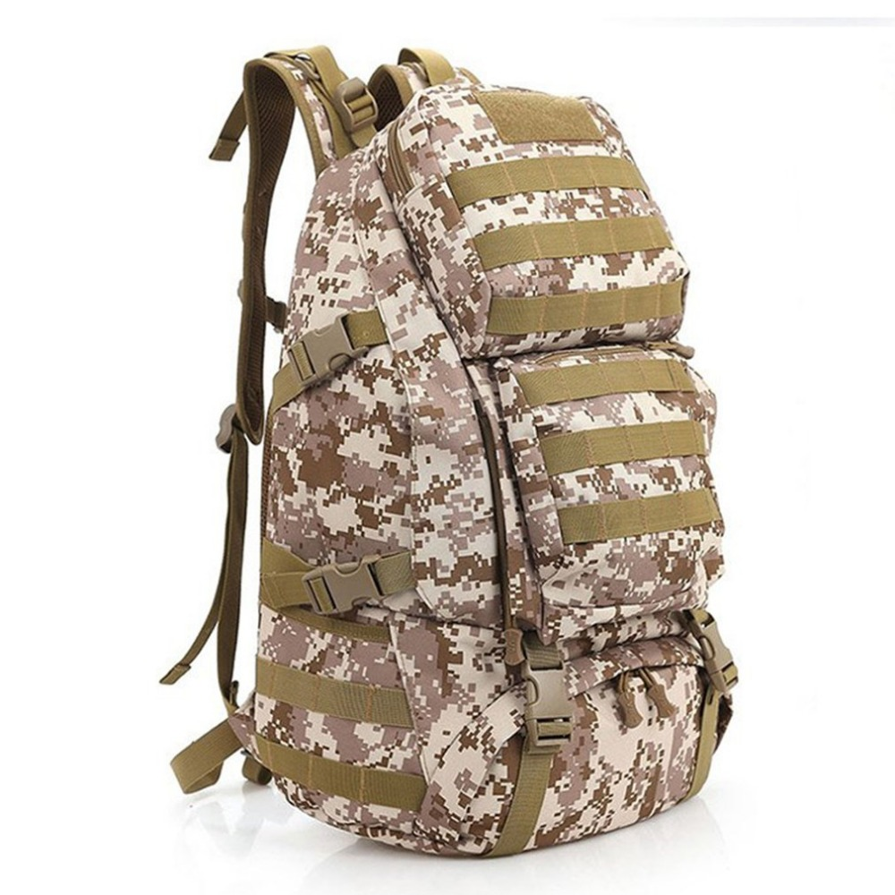 55L Large Capacity Gym Bag Back Pack Bag Outdoor Climbing Bag Waterproof Sports Travel Backpack Army Camouflage Free Ship outdoor sports double shoulder bag student bag computer bag waterproof pack free shipping