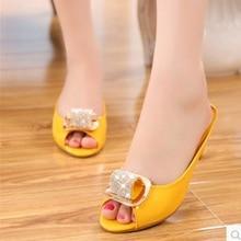 Lady Plus size (4-12)Cheap fashion Luxury Diamond Spike Heel Peep toe Single high heels Summer Beach shoes women pumps Sandalias