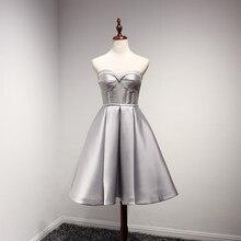 IBayU Silver Satin Corset Off Shoulder Coctail font b Dresses b font 2016 Vestido De Festa