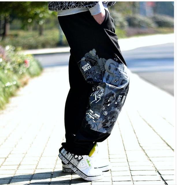 Calças dos homens soltos calça casual marca de moda hip hop plus size calças compridas S M L XL XXL XXXL