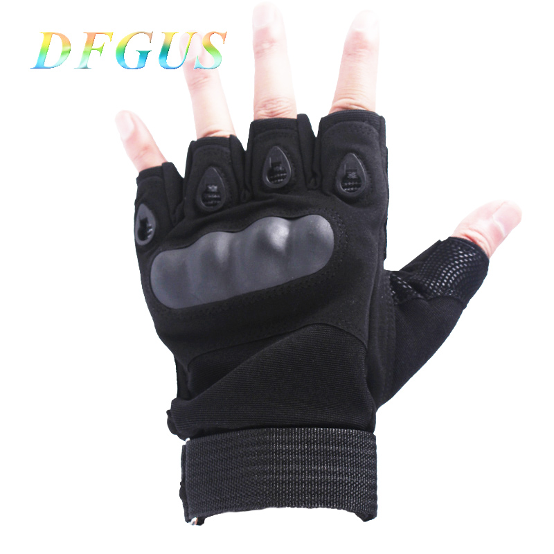 New  Fingerless Gloves Military Army Outdoor Sports Shooting Airsoft Bicycle Motorcross Hard Knuckle Tactical Gloves Half Finger