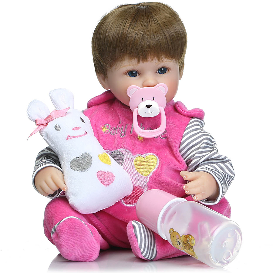 16inch  40cm  reborn babies    silicone reborn baby doll  bebe juguetes  kids playmate  toy gift for girls bonecas 57cm full silicone shower doll reborn baby boy doll kids playmate gift handmade lifelike bebe juguetes babies toys for bouquets