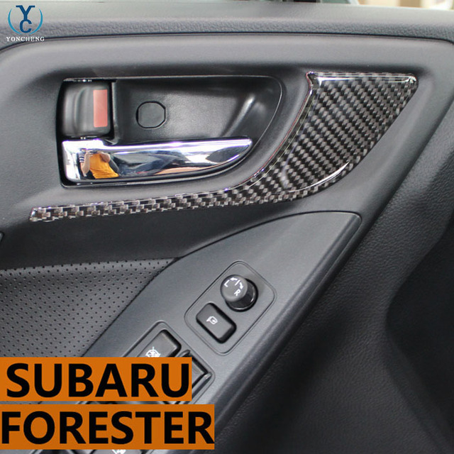 For Subaru 13 17 Forester Modified Carbon Fiber Interior Door Panels
