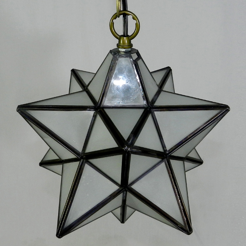 tiffany fivepointed star pendant light restaurant dining room living room bedroom lighting bar cafe club creative df45 - Star Pendant Light