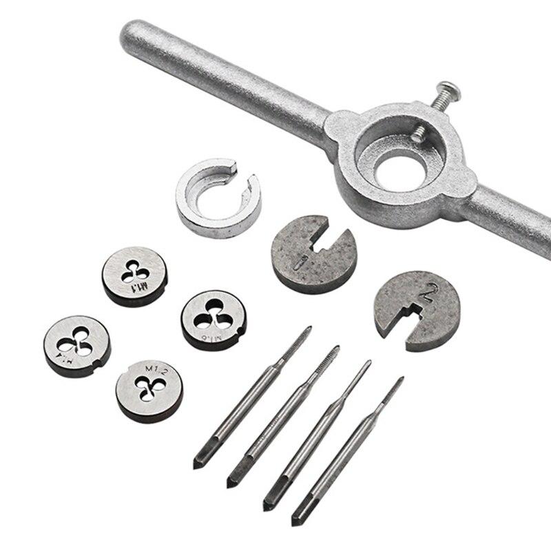 Handwerkzeuge 2018 1 Set Mini Hss Metric Wasserhähne Stirbt Schlüssel Griff Kit M1-m1.6 Schraube Gewinde Der Neue Jul30_33