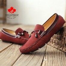 2020 חדש מותג גברים נעליים יומיומיות זכר סתיו & קיץ אופנה נעלי סירת איש קומפי להחליק על מותג זמש ופרס נעליים לגברים