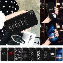 2dc2f2a9a04 Funda para teléfono de silicona para iPhone 6 6 s Plus 5 SE 5S negro blanco  rayas dibujos animados letra suave TPU cubierta para.
