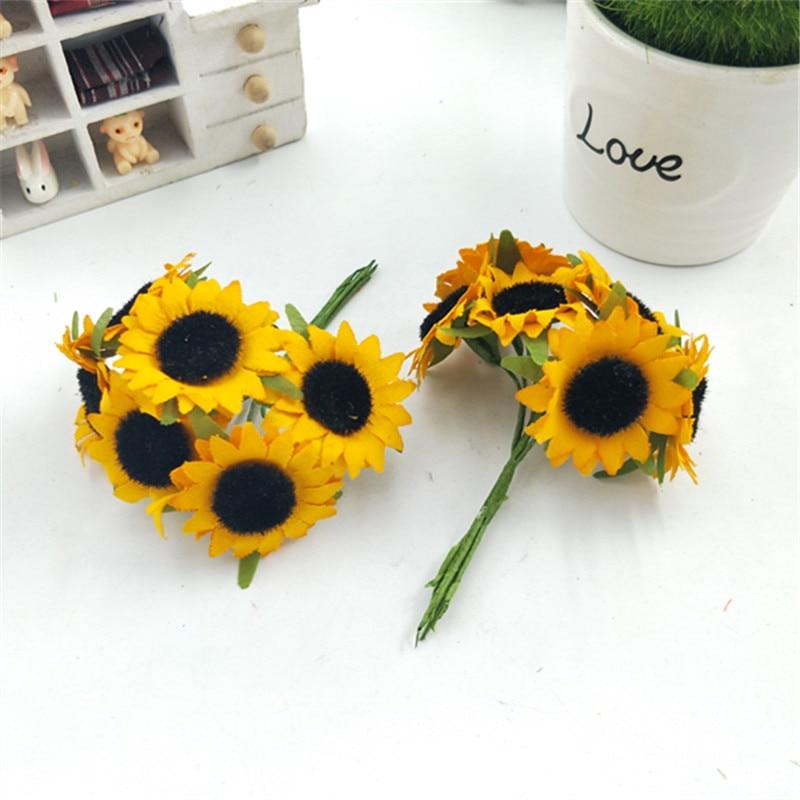 Маленький Подсолнух букет ~ прекрасный цветок Подсолнух моделирование цветка, имитация искусственных цветов