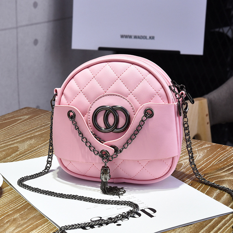 QZH casual shoulder bags women small PU leather messenger bags ladies purse tassel handbag female crossbody bag long strap