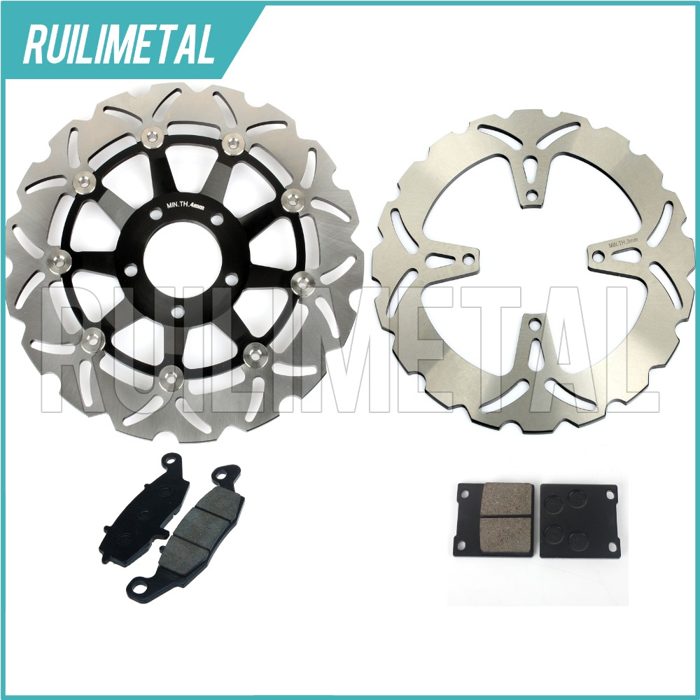 Front Rear Brake Discs Rotors Pads Set for Suzuki GS 500 E 96 97 98 99 00 01 02 03 K3 K2 GS 500 F 04 05 06 07 08 K4 K5 K6 K7 K8 94 95 96 97 98 99 00 01 02 03 04 05 06 new 300mm front 280mm rear brake discs disks rotor fit for kawasaki gtr 1000 zg1000