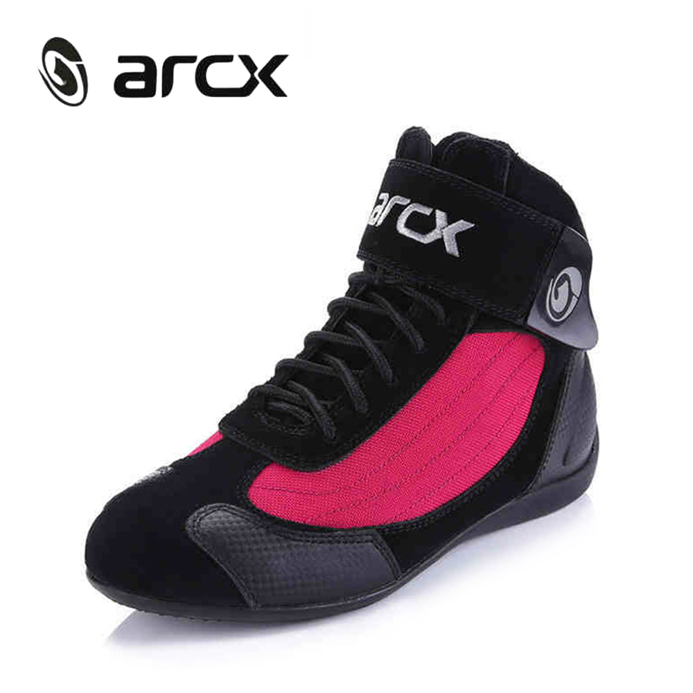 цена на ARCX Genuine Cow Leather Motorcycle Ankle Boots Street Moto Racing Boots Motorbike Biker Chopper Cruiser Touring Riding Shoes