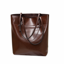 2017 Genuine leather women's handbag big bag vertical cowhide shoulder bag big bags female brief bucket bag casual
