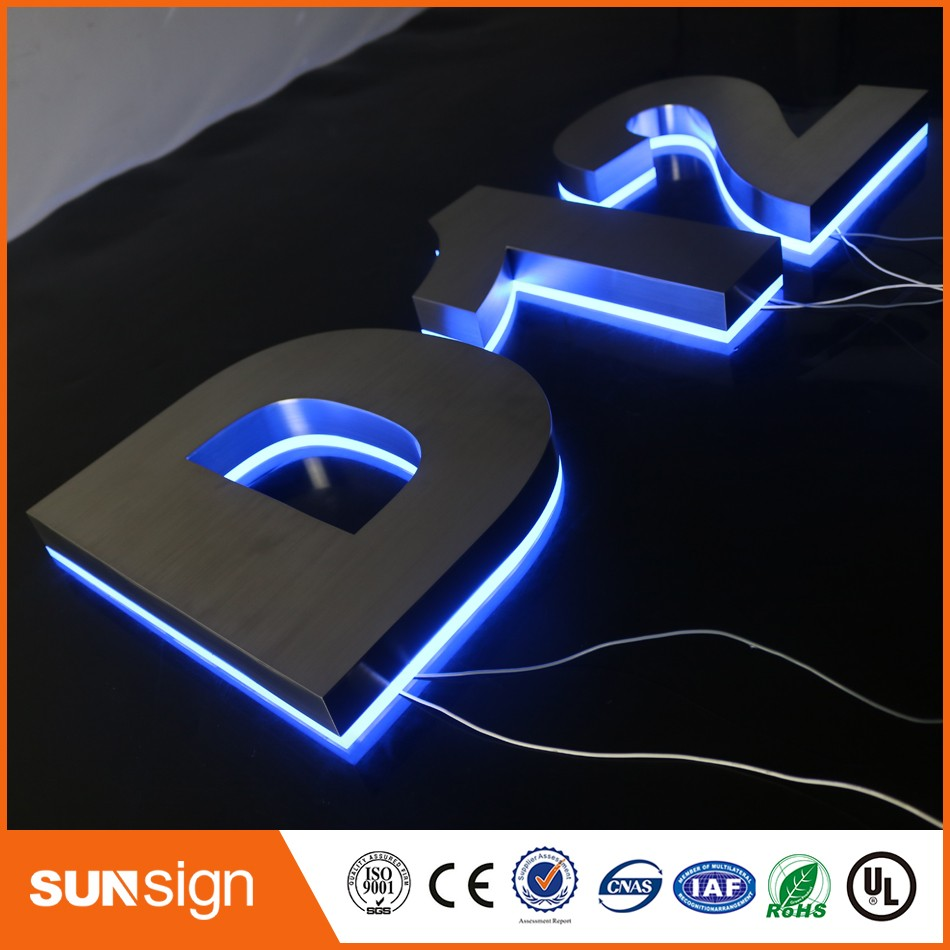 3D LED Backlit Letter Business Signs Indoor Company Logo Signage