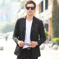 Nuevo Blazer negro para hombre chaqueta primavera moda Otoño Slim Fit simple Breasted hombres trajes y Blazers talla grande 3XL a694