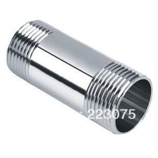 """Free shipping SS304 Stainless steel Pipe fitting 1-1/4"""" Male x 1-1/4"""" Male  threaded  L 75MM 10pcs/lot"""