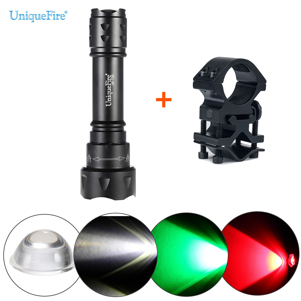 UniqueFire Cree Flashlight UF-T20 -XPE Zoom  Tail Cap Switch 3Mode Operating Lamp  Rechargeable Flashlight Torch +Scope Mount uniquefire uf 1505 cree xpe xpg mini led flashlight aluminum alloy 3 mode adjustable focus zoom light lamp for home