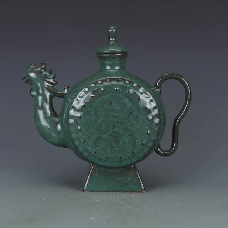 Home Decorators Collection Coupon Free Shipping: Antique SongDynasty Porcelain Pot,Green Glaze Carving