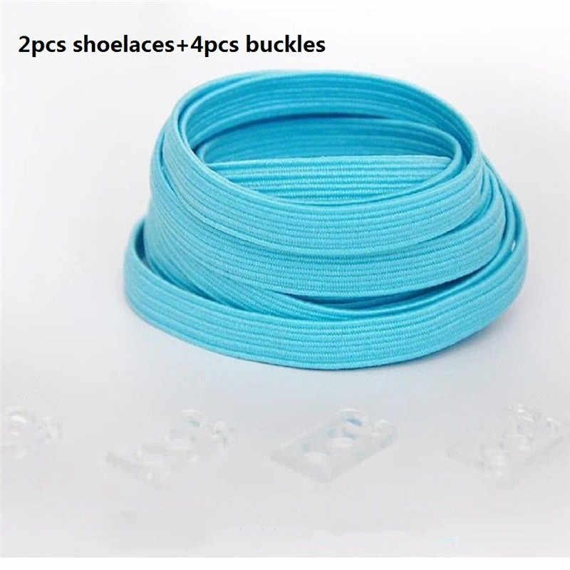 1 คู่คุณภาพสูงยืดยืดหยุ่นล็อคไม่มี Tie Lazy Shoelaces Unisex แบนรองเท้าลูกไม้เด็กยางยืดหยุ่นเชือกผูกรองเท้า 100 เซนติเมตร