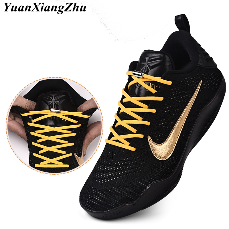 Shoe Laces Sneakers No-Tie Round-Locking Elastic 19-Color Running Kids Adult 1pair