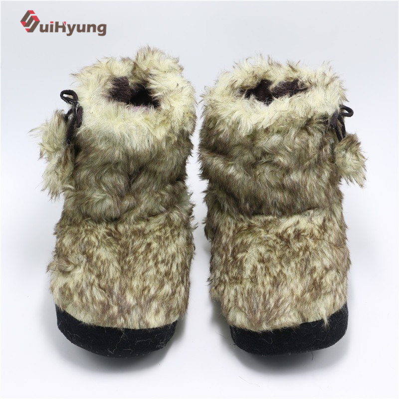Suihyung Women Thermal Cashmere Indoor Shoes Home Slippers Female Bedroom Plush Fake Fur Soft Bottom Floor Slippers Female Botas tangnest sweet coral velvet women s slippers new cartoon fur floor slippers female soft plush indoor shoes size 36 41 xwt855