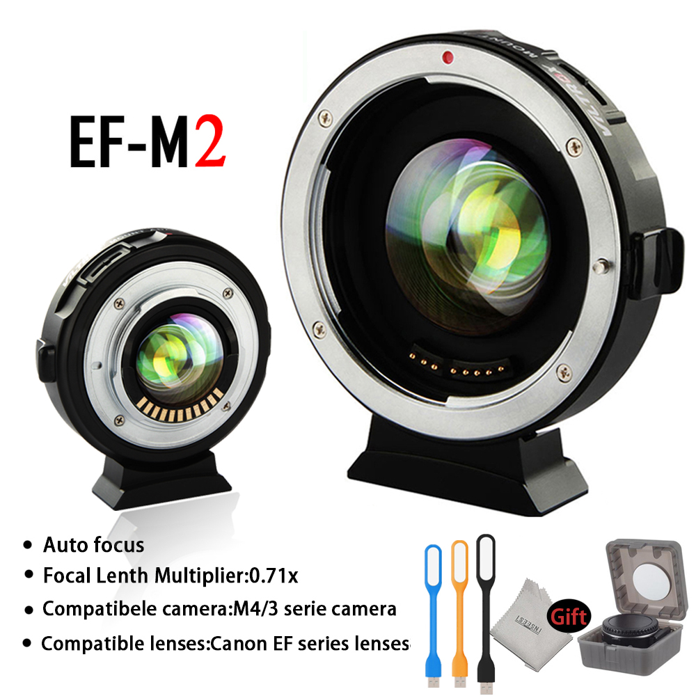 Lens Adapter VILTROX EF-M2 Auto-focus Lens 0.71X Reduce Speed Booste Adapter for Canon EF lens to M43 Camera GH4 GH5 GF6 GF1 все цены
