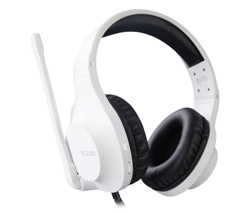 SADES Spirits Gaming Headset Gamer Headphones For PC / Laptop / PS4 / XBOX ONE ( 2015 Version ) / Mobile /VR White image