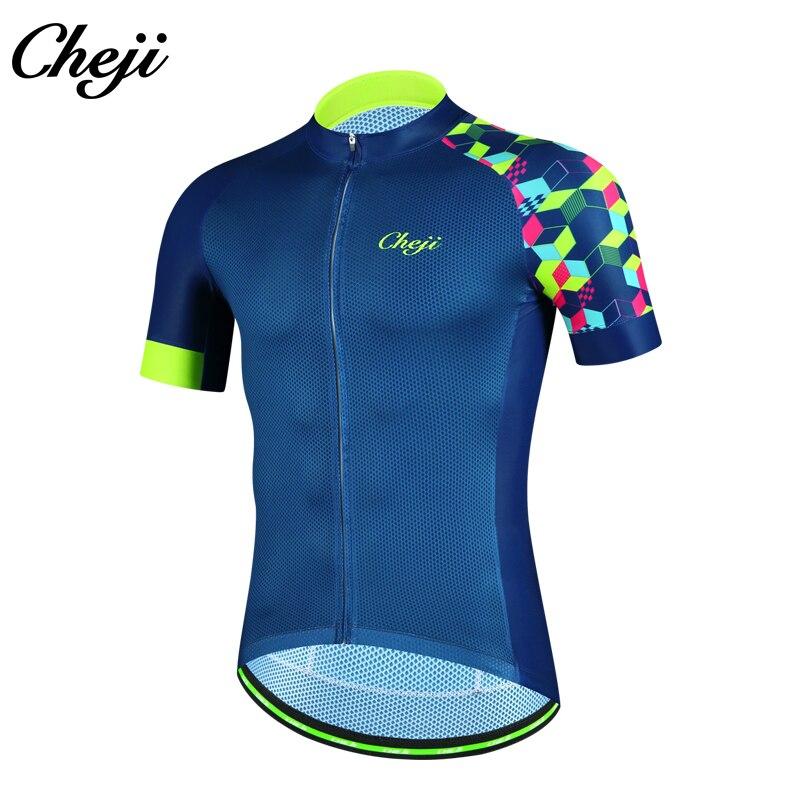 CHEJI Cycling Jersey Mens Short Sleeve Summer MTB Bike Bicycle