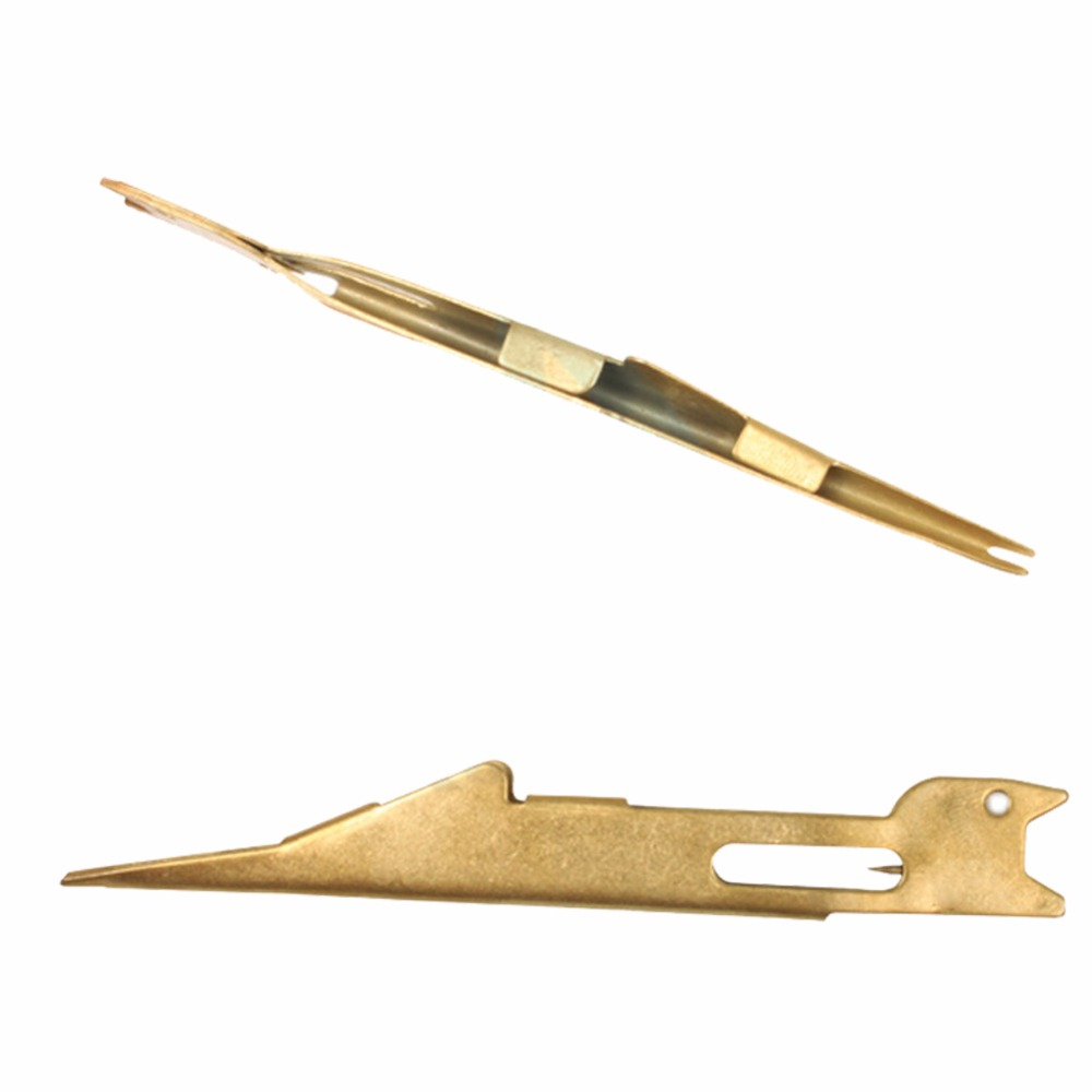 Lumiparty Fly Fishing Angler Tie Fast Knot Tying Tool Fly Tying Accessories Gold