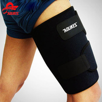 Aolikes Outdoor Breathable Sports Thigh Sleeve Durable Compression Hamstring Groin Support Black Leg Knee Pads Support