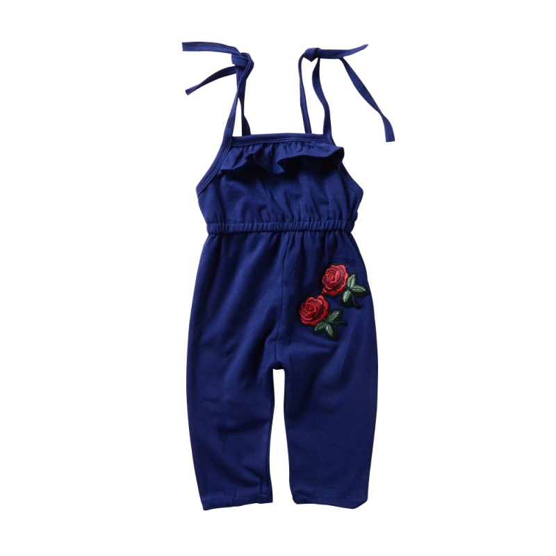 Summer Toddler Girls Kids Clothing Floral Overall Sleeveless Romper Jumpsuit Playsuit Clothes Size 2-6Y
