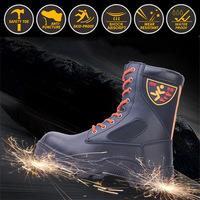 Fire rescue boots anti smashing and anti piercing high ranking army boots Steel head steel bottom Training and rescue Climb