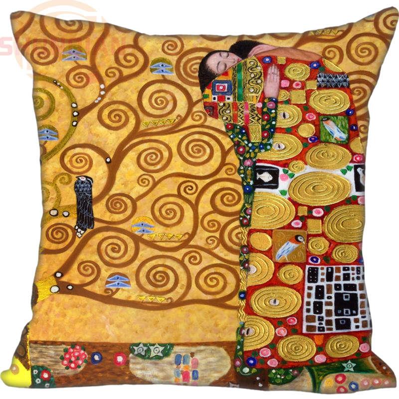 Cuscino Con Cerniera.Us 6 65 26 Di Sconto Hot Custom Il Bacio Di Gustav Klimt Cuscino Con Cerniera 35x35 Cm 40x40 Cm 45x45 Cm 60x60 Cm Due Lati Federa Personalizzata La